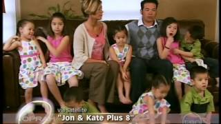 The Gosselin family from Jon and Kate Plus 8 on Oprah (2009)