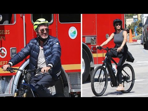 Simon Cowell And Lauren Silverman Put Safety First During Malibu Bike Ride