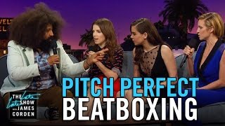 Video Beatboxing with the Pitch Perfect 2 Cast MP3, 3GP, MP4, WEBM, AVI, FLV Mei 2018