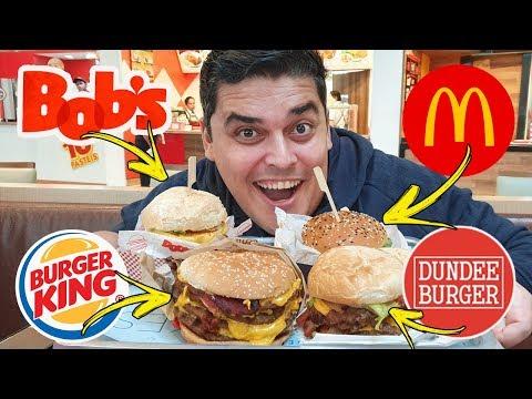 O HAMBÚRGUER MAIS CARO - McDonald's, Burger King, Bob's e Dundee Burger