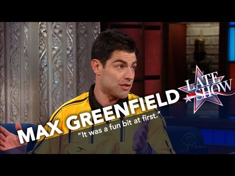 [The Late Show] Max Greenfield's extremely subtle bit that just builds and builds. Hard to say more without spoiling