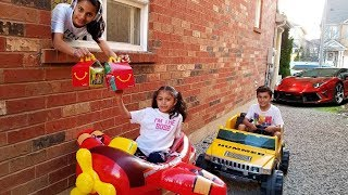 Restaurant  Drive Thru play & Ride On Car for Kids