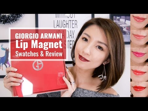 GIORGIO ARMANI Lip Magnet Swatches & Review