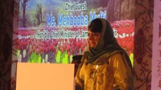 J &K IN NEW LIVES AN INTERACTIVE EVENING WITH MEDIA AND BOLLYWOODHon'ble  CM of J&K State Ms. Mehbooba Mufti Sahiba