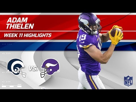 Video: Adam Thielen's 123-Yd & 1 TD Day vs. Los Angeles! | Rams vs. Vikings | Wk 11 Player Highlights