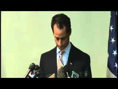 Weiner Press Conference Heckler