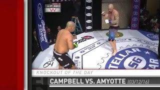 Knockout of the Day: Nick Campbell Clinches Up with Dan Amyotte at Prestige Fight Club 2 by Fight Network