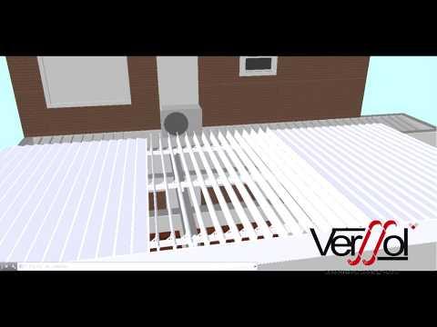 Verssol - Projetos Completos  | Verssol - Cobertura Abre e Fecha -  Policarbonato - Toldos - Brise Articulado
