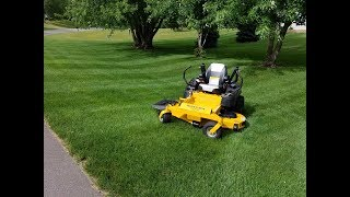 "9. Lawn Striping with Hustler Fastrak 60"" 2017 with Harrison Specialties Lawn striper"