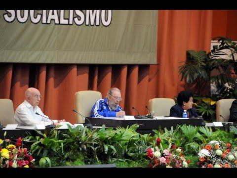 Fidel Castro pronunció discurso en clausura de VII Congreso del Partido Comunista de Cuba