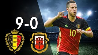 Video Belgium vs Gibraltar 9-0 - Highlights & Goals - Qualfication World Cup 2018 31/08/17 - HD MP3, 3GP, MP4, WEBM, AVI, FLV Juli 2018