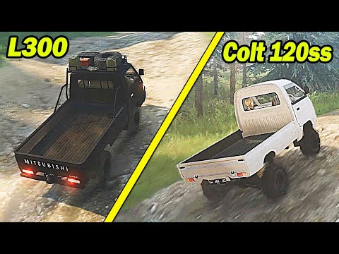 Challenges L300 Pick Up VS Colt 120Ss di Tanjakan #SpintiresMudrunner
