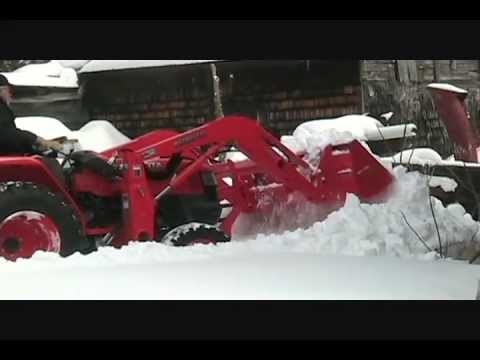 Kubota L3400 HST trying to plow snow