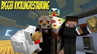 KYCKLINGRESTAURANG PÅ TRATTLUNDA | Minecraft Let's Play med figgehn & ChrisWhippit