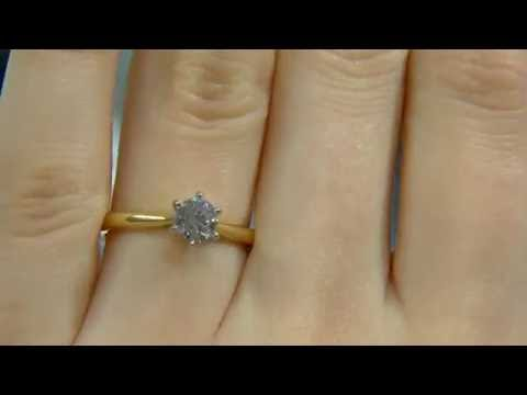 0.50ct Round Cut Diamond Solitaire Engagement Ring DR020