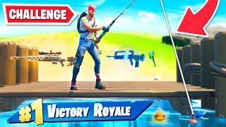 Can I WIN in Fortnite Chapter 2 by FISHING ONLY...? by Ali-A