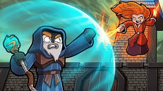 Playing MINECRAFT with MAGIC! (Wizard WARS)