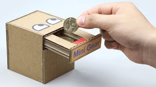 Video How to Make Coin Bank Box MP3, 3GP, MP4, WEBM, AVI, FLV Maret 2019