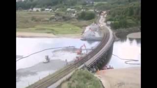Pont Briwet Road / Rail Replacement - Construction Time Lapse