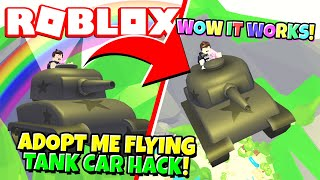 How to Do the NEW FLYING TANK CAR HACK in Adopt Me! (Roblox)
