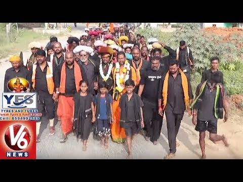 Ayyappa Swamula Maha Padayatra Continues For 22nd Day | Secunderabad To Sabarimala
