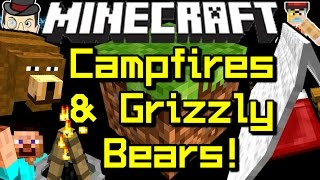 Minecraft CAMP FIRES, GRIZZLY BEARS, Traps, Backpacks, Tents&More!