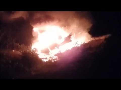 Uruoca incêndio em acidente
