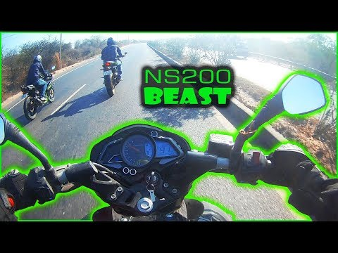 Pulsar NS200 The Beast | 0 To 100  | Test Ride | MVisualFilms