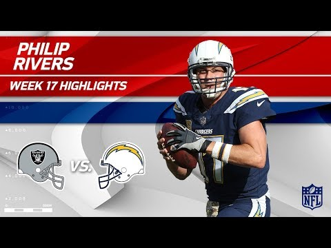 Video: Philip Rivers Highlights | Raiders vs. Chargers | Wk 17 Player Highlights