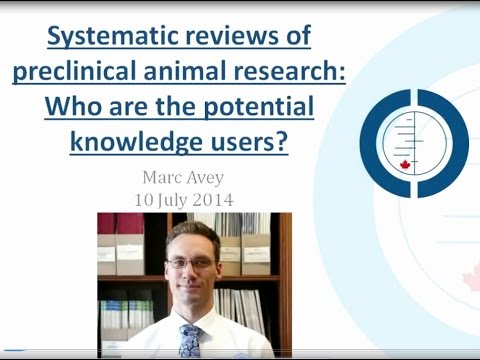 CCC Animal Studies improving the translation of pre-clinical research, webinar with Marc Avey