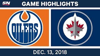 NHL Highlights | Oilers vs. Jets - Dec 13, 2018 by Sportsnet Canada