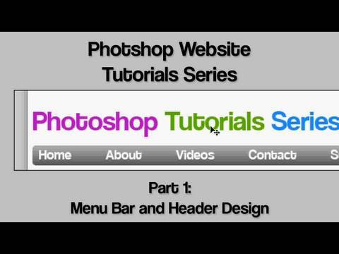 EdzJohnson - Adobe photoshop website design tutorial series part 1. In this tutorial I will teach you how to design a heading for your website, including a quick logo and...