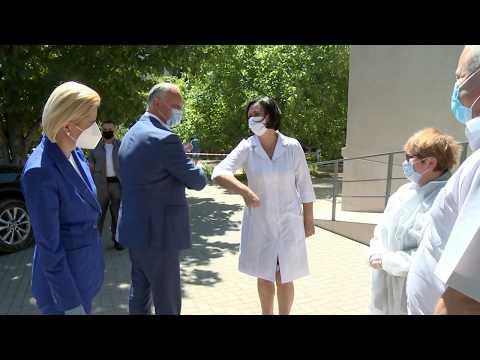 Igor Dodon a vizitat spitalul raional din Ceadîr-Lunga