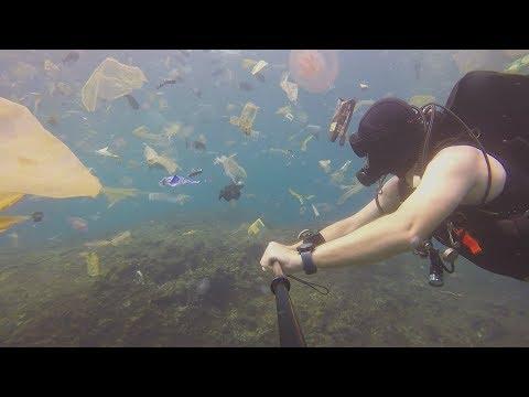 [VIDEO] Une plongée au milieu d'un océan de déchets plastiques...