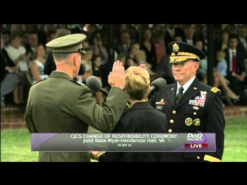 Swearing-in the 19th Chairman of the Joint Chiefs of Staff