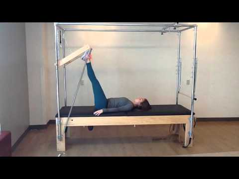 Pilates Trapeze Table - Footwork with Tower Bar 1