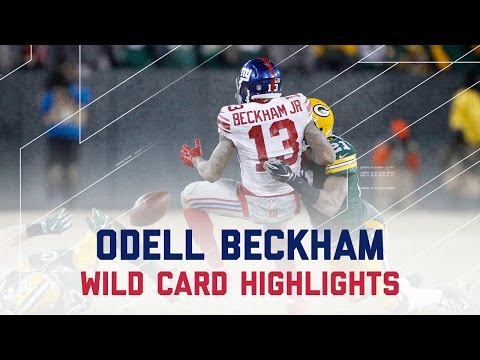 Odell Beckham's Rough Day in Green Bay | Giants vs. Packers | NFL Wild Card Player Highlights (видео)