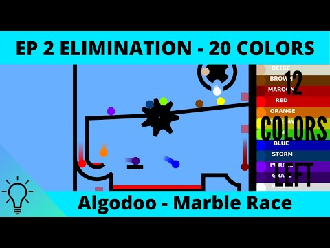 Algodoo Marble Race - 20 Colors - Elimination | EP 2