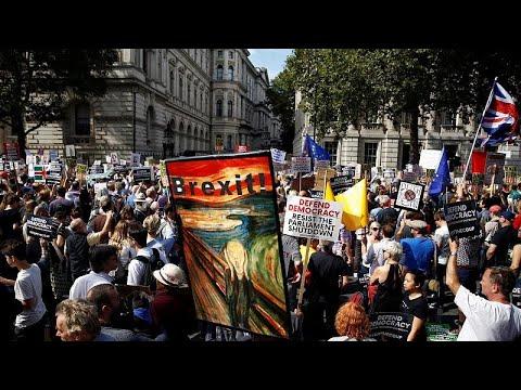 Großbritannien: Demonstranten protestieren vor Downin ...