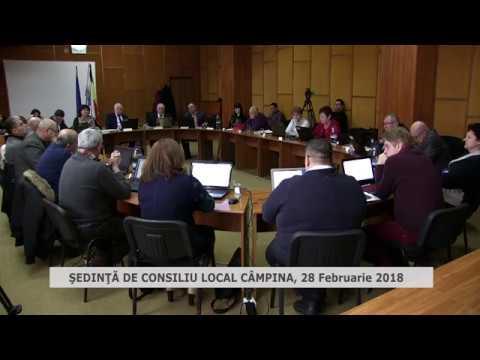Sedinta de consiliu local Câmpina 28 februarie 2018