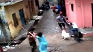 Faridabad India  City pictures : Caught on Camera: Brutal Fight of Neighbours Over Dirt in Faridabad