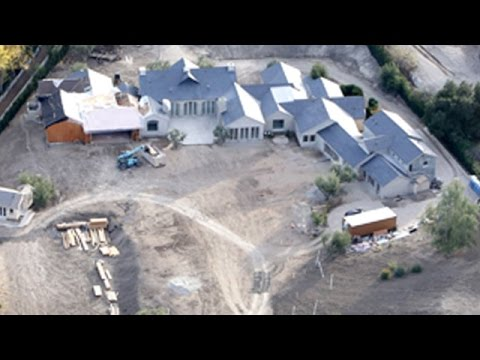 Construction At The Kardashian-West Estate As Kim And Kanye Embrace Seclusion
