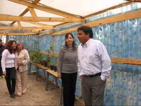 Inauguraron invernadero que se hizo con 2 mil botellas plásticas
