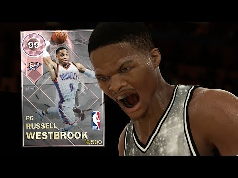 PINK DIAMOND RUSSELL WESTBROOK GAMEPLAY! MOST TOTAL STATS!! (NBA 2K18 MYTEAM)