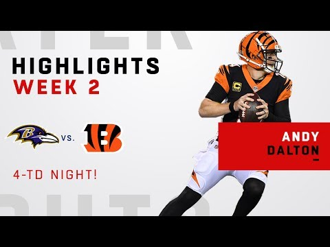 Andy Dalton's 4-TD Night vs. Baltimore!