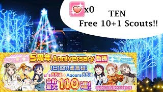 Video Ten Free 10+1 Scouts!! | LLSIF 5th Anniversary MP3, 3GP, MP4, WEBM, AVI, FLV Desember 2018