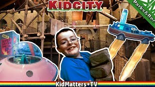 """KidCity Children's museum visit. All the kids were really excited to go. This video covers """"Space Age Roadtrip"""" and """"Middleshire"""" castle areas. A great overall family fun trip to an indoor play area/children's museum. Video was shot in 4k 30fpsWHAT IS KIDCITY?Kidcity is a children's museum with three floors of imagination play, where kids ages 1 to 7 play pretend with their favorite grown-ups.   Our exhibits are handmade and one-of-a-kind, built by in-house artists who love inspiring playfulness in visitors of all ages.http://www.kidcitymuseum.com119 WASHINGTON ST., MIDDLETOWN, CT 06457 •  (860) 347-0495http://www.childrensmuseums.org/childrens-museums/about-childrens-museums : """"About Children's MuseumsWhy Visit a Children's Museum?Children's museums are places where children learn through play and exploration in environments designed just for them. Reflecting their diverse communities, children's museums create playful, interactive learning experiences. In an increasingly complex world, children's museums provide a place where all kids can learn through play with the caring adults in their lives.Many children's museums are located in major travel and tourism destinations. ... Children's museums produce programs and exhibits that transcend age and experience, and empower children to set their own pace — important features for young vacationers who can get overwhelmed by being away from home and exhausted from an action-packed itinerary.""""Thanks for Watching another fun family friendly video! See you in the next video!!!https://www.youtube.com/c/KidMattersTVSubscribe for more, it's FREE! And Never Miss a video by Hitting that Bell Icon!▶︎https://www.youtube.com/c/KidMattersTV?sub_confirmation=1Watch More, from our Various Playlists:▶︎https://www.youtube.com/c/kidmatterstv/playlistsFollow Us On Social Media:▶︎Twitter: https://twitter.com/KidMatters_TV▶︎Facebook: https://www.facebook.com/kidmatterstv/▶︎Instagram: https://www.instagram.com/kidmatters_tv/Open Source Softw"""