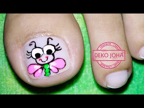 Decorados de uñas - Libélula fácil paso a paso