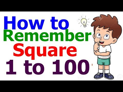 How To Remember Squares Upto 100 Specially For Bank Po