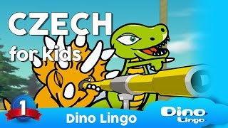 http://dinolingo.com/languages/czech.html Dino Lingo Czech for Kids is a language set where cartoon dinosaur characters introduce the most common 200 ...